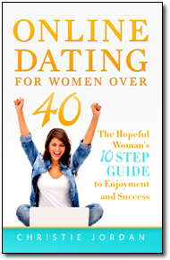 "alt=""Cover of the book Online Dating for Women Over 40: The Hopeful Woman's 10 Step Guide to Enjoyment and Success"""